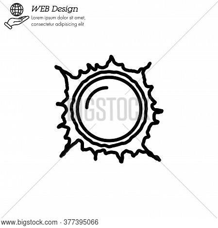 Sun, Star Sun, Flare In Sun Icon Thin Line, Linear, Outline Vector. Sun, Star Sun, Flare In Sun Simp