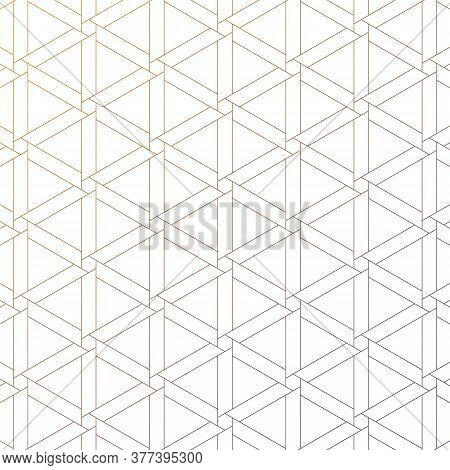 Geometric Vector Pattern, Repeating Linear Hexagon And Triangle.  Monochrome Stylish. Pattern Is Cle