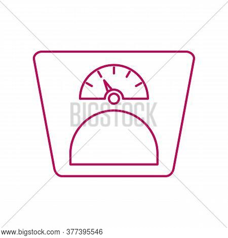 Scales Icon. Drop Shadow Floor Scales Icon. Household Human Weight Measurement Appliance. Isolated S