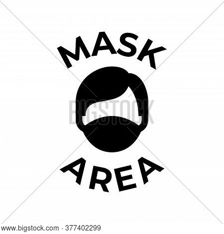 Wearing Protection Mask Area Icon