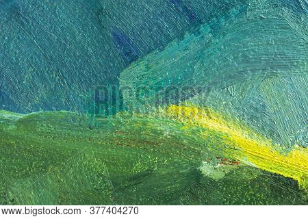 Abstract Multi-colored Background With Oil Paint . Hand-made Textured Background For Signage And Ban