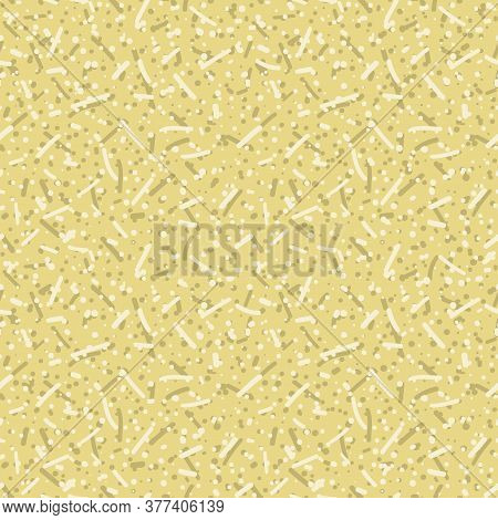 Dense Confetti Dotty Texture Seamless Background. Neutral Cream Flecked Sprinkles Handmade Paper. Mo