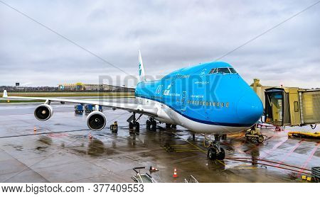 Amsterdam, Netherlands - January 28, 2020: Boeing 747 Of Klm Royal Dutch Airlines At Amsterdam Schip