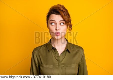 Close-up Portrait Of Her She Nice-looking Attractive Lovely Pretty Lovable Cute Curious Cheerful Gir