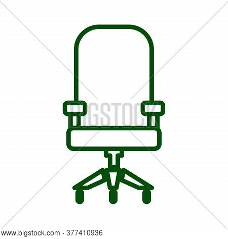 Computer Chair Icon. Drop Shadow Office Chair Silhouette Symbol. Comfortable Computer Chair. House A
