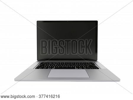Laptop Realistic Computer In Mockup Style. Laptop Isolated On A White Background. Modern Thin Edge S