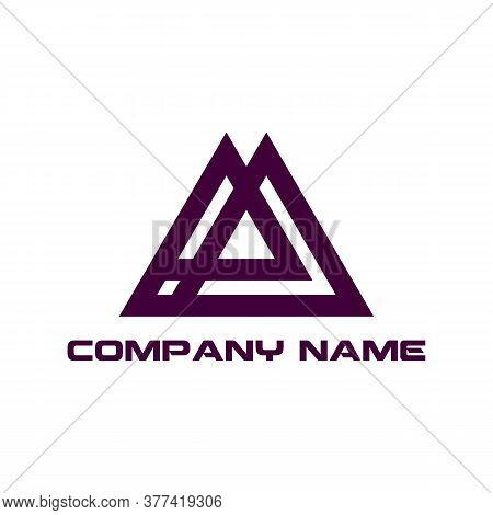 Modern Creative Abstract Triangle Logo Design Vector Stock . Triangle Gradient Logo .abstract Letter