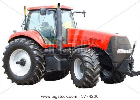 New Red Tractor Isolated