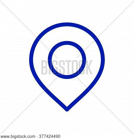 Pinpoint Icon. Drop Shadow Geolocation Mark Silhouette Symbol. Location Map Pointer Symbol. Pinpoint