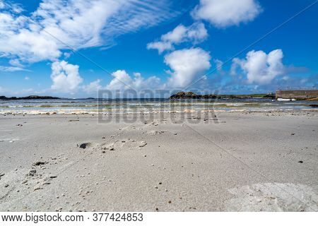 Cow Hoof Prints In The Sand At Rosbeg County Donegal - Ireland