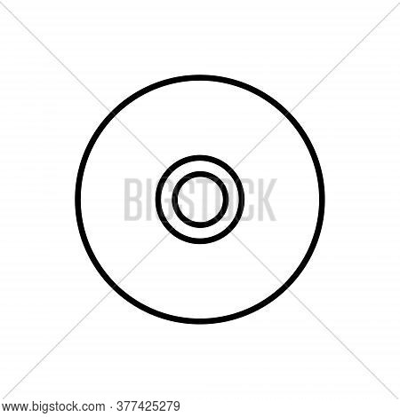 Cd Disk Outline Icon Isolated. Symbol, Logo Illustration For Mobile Concept, Web Design And Games.