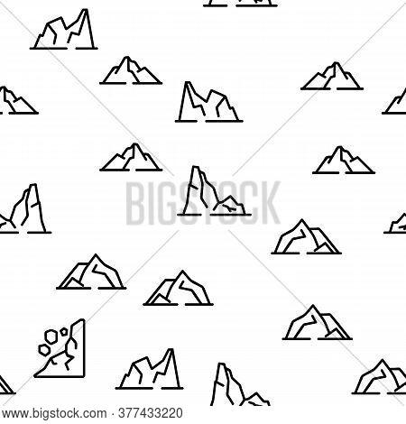 Ridge Different Form Vector Seamless Pattern Thin Line Illustration