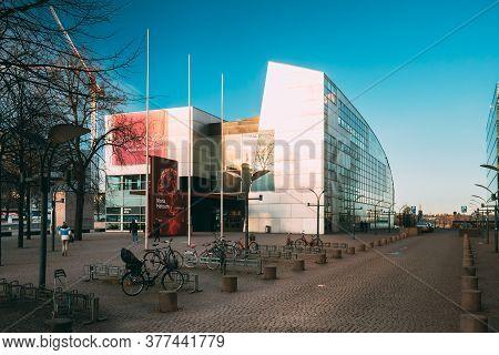 Helsinki, Finland - December 10, 2016: View Of Kiasma Contemporary Art Museum. Museum Exhibits Conte