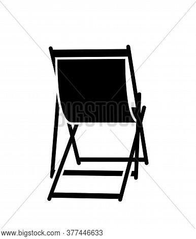 Vector Deck Chair Isolated On White Background