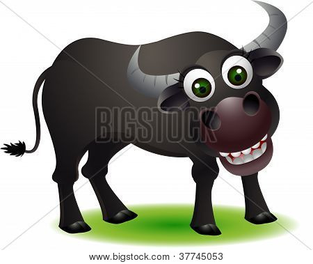 cute buffalo cartoon