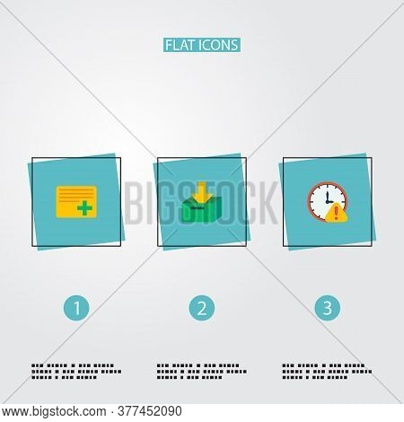 Set Of Task Manager Icons Flat Style Symbols With Deadline, Archive, Add Task And Other Icons For Yo