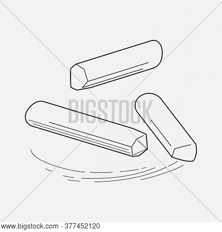 Chalk Icon Line Element. Vector Illustration Of Chalk Icon Line Isolated On Clean Background For You