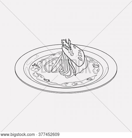 French Ratatouille Icon Line Element. Vector Illustration Of French Ratatouille Icon Line Isolated O