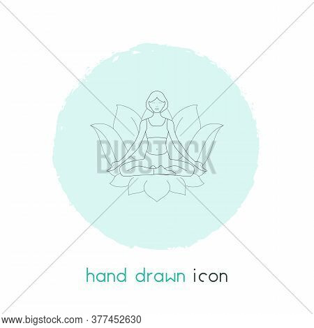 Meditation Icon Line Element. Vector Illustration Of Meditation Icon Line Isolated On Clean Backgrou