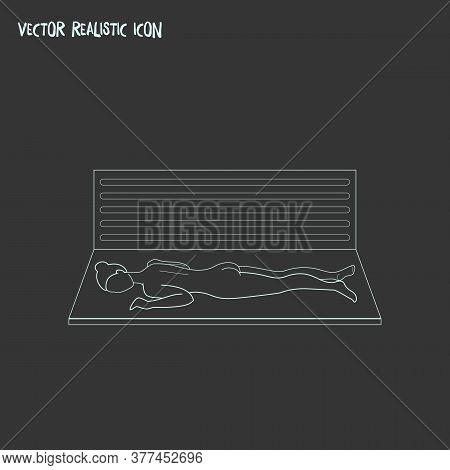 Solarium Icon Line Element. Vector Illustration Of Solarium Icon Line Isolated On Clean Background F