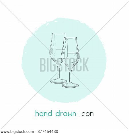 Stemware Icon Line Element. Illustration Of Stemware Icon Line Isolated On Clean Background For Your