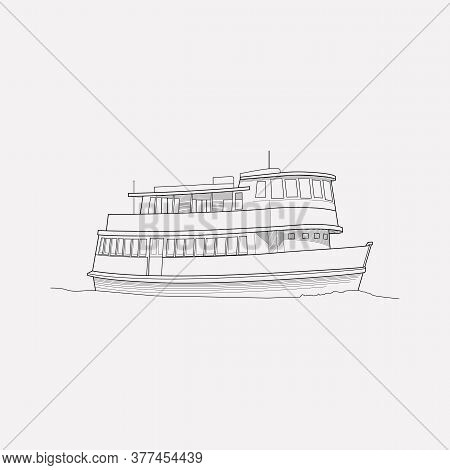 Ferry Icon Line Element. Illustration Of Ferry Icon Line Isolated On Clean Background For Your Web M