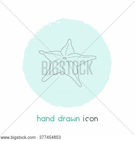 Starfish Icon Line Element. Illustration Of Starfish Icon Line Isolated On Clean Background For Your