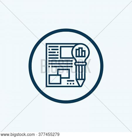 Review Icon. Simple Element From Audit Collection. Filled Review Icon For Templates, Infographics An