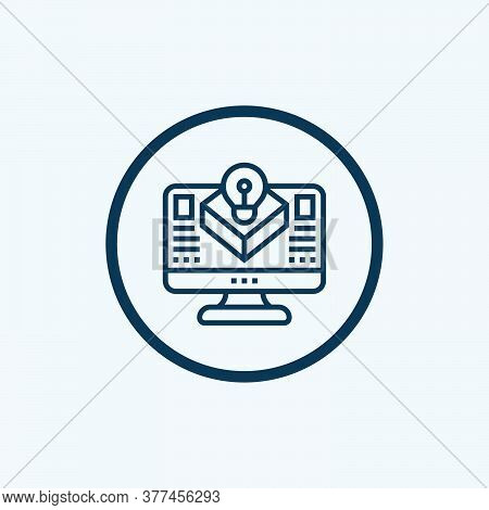 Textile Computer Modeling Icon. Isometric Of Textile Computer Modeling Vector Icon For Web Design Is