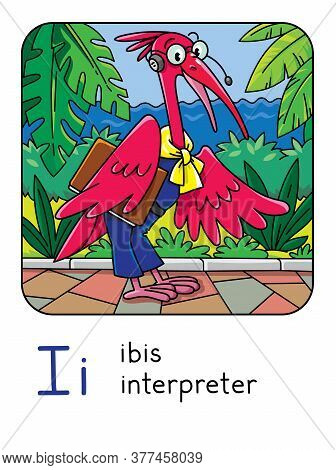 Ibis Interpreter Funny Animals And Professions Abc