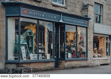Stow-on-the-wold, Uk - July 6, 2020: Facade Of A Closed Scotts Of Stow Shop In Stow-on-the-wold, A M