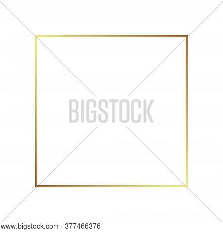 Gold Frame Border Golden Vector Thin Boarder Square Element