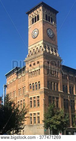 Downtown Tacoma Old City Hall Historical Building Clocktower