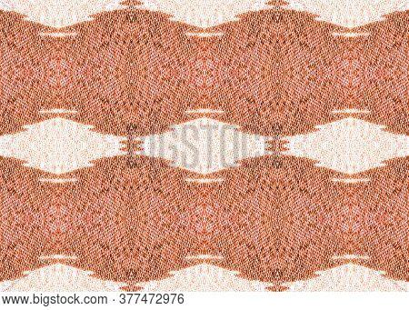 Gentle Tribe Fabric Print. Patterns Lisbon Decor. Vintage Cotton Print. Light Red Repeat  Watercolor