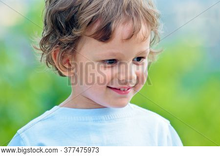Child Has Summer Joy. International Childrens Day. Closeup Of Cute Young Boy. Portrait Of Little Boy