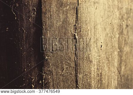 Old abstract brown textured wood background. Dirty retro vintage wooden board, antique western style