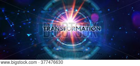 Business Transformation. Future And Innovation Internet And Network Concept. 3d Illustration