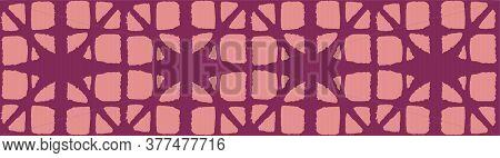 Japanese Tie Dye Seamless Pattern. Bohemian Geometric Asian Tie Dye Design. Elegant Kimono Textile.