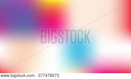 Unfocused Mesh Vector Background, Hologram Magic Teal. Funky Pink, Purple, Turquoise Dreamy Noble Un