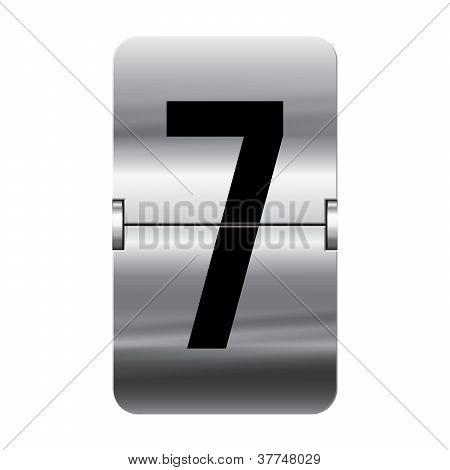 Silver Flipboard Letter - Departure Board - 7