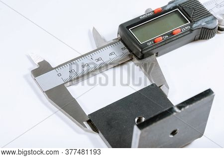 Calipers. Modern Digital Measuring Device. Measurement Accuracy.