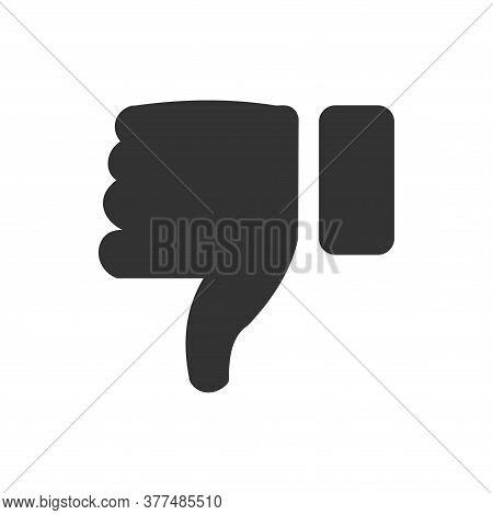 Dislike Icon. Dislike Icon Vector Illustration. Dislike Icon Isolated On White Background. Thumbs Do