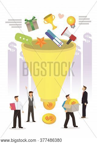 Digital Marketing Funnel Leads Generation With Customers, Marketing, Sales Generation And Optimizati