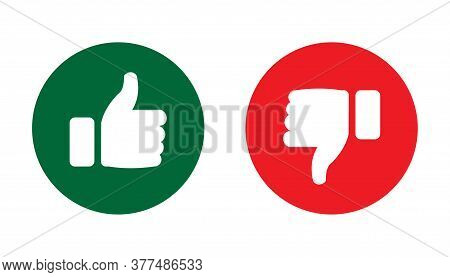 Like And Dislike Icon In Round Shape. Like And Dislike Icon Vector Illustration. Like And Dislike Ic