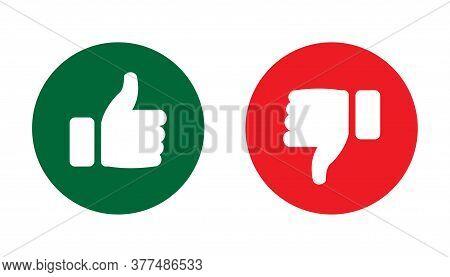 Like And Dislike Icon In Round Shape. Like And Dislike Icon Vector Illustration. Like And Dislike Ic