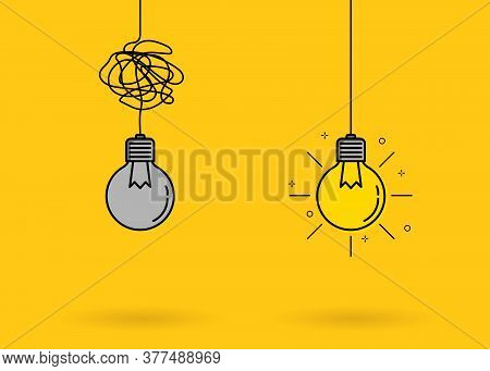 Creative Idea Thinking Outstanding, Inspiration, Brainstorm, Innovation, Solution And Imagination De