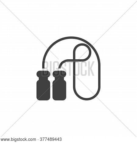 Skipping Rope Vector Icon. Filled Flat Sign For Mobile Concept And Web Design. Jump Rope Glyph Icon.