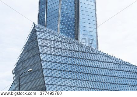 Saint-petersburg, Russia, July 19, 2020: Front View Of Multipurpose Business Center Lahta. Lakhta Ce