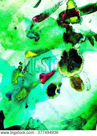 Green Light Flare. Green Neon Banner. Black Blue Dark Texture. Black Green Background. Green Futuris