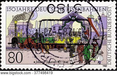 02 09 2020 Divnoe Stavropol Territory Russia The German Postage Stamp 1985 The 150th Anniversary Of
